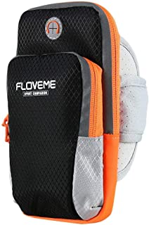 FLOVEME Sport Armband Hand Bag Case For iPhone 7 6 8 Plus X Cloth Gym Running Pouch Arm Band For Samsung Galaxy S9 Mobile ...