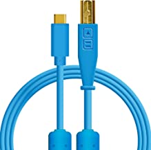 Chroma Cables: Audio Optimized USB-C to USB-B Cable with 56K Resistor (Blue)