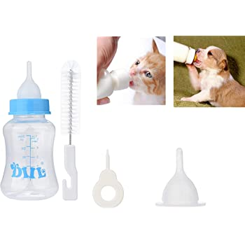 ADIOS Pet Feeding Bottle Pet Nursing Kit 150 ml for Puppy Kitten Rabbit (Color May Vary)
