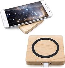 kwmobile Chargeur Qi sans Fil - Station de Chargement Smartphone - Socle en Bois avec câble Micro USB - Charge Rapide de téléphone par Induction