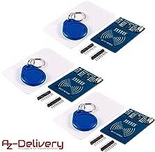 AZDelivery 3 x RFID Kit RC522 con lector, chip y tarjeta para Arduino, Raspberry Pi y Co.