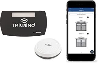 Tailwind iQ3 Smart WiFi Garage Door Opener - Internet Enabled Garage Door Remote Control Compatible With Your Smartphone, Alexa, Google Home, and Siri Shortcuts. Vehicle Sensor Included. Up to 3 Doors