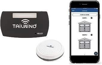 Tailwind iQ3 Premium Featured Smart WiFi Garage Door Opener - Internet Enabled Remote Control Compatible with Smartphones, Alexa, Google Home, Siri, Smart Things, IFTTT, Vehicle Sensor Included.