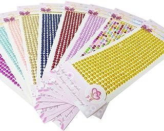 Adesivos de pérola de strass e acrílico STOBOK, 5 peças, folhas, autoadesivos, pedras e adesivos nas costas, adesivo de pé...