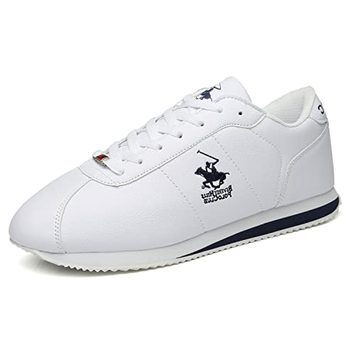 Beverly Hills Polo Club Mens Fashion Sneakers Leather Casual Walking Shoes Sports Running Lightweight Athletic Training