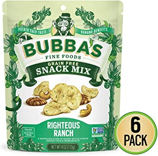 Bubba's Fine Foods Paleo Snack Mix, Righteous Ranch (Pack of 6) | Grain & Gluten Free, Vegan, Dairy Free & Non-GMO Banana Nut Mix