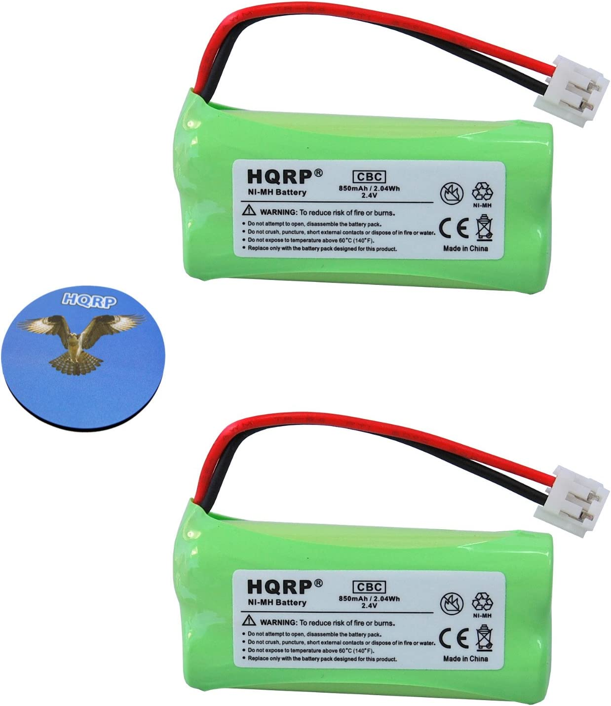 HQRP NEW before selling ☆ 2 Pack Phone Battery 89 Compatible Dedication 89-1326-00-00 with VTech