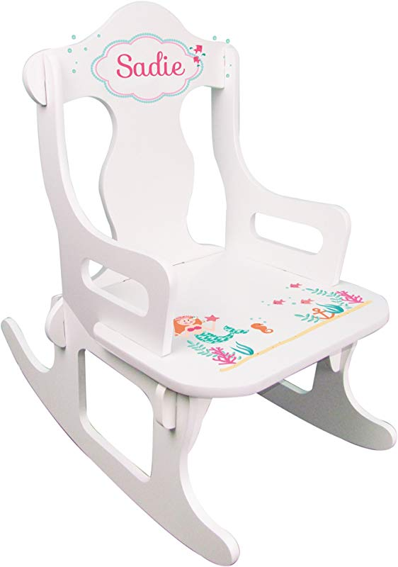 Personalized Child S Mermaid Puzzle Rocking Chair