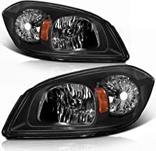 SCITOO Headlamps replacement For Chevrolet Cobalt For Pontiac G5 For Pontiac Pursuit headlights assembly Black Housing Amb...
