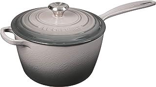 Le Creuset LS2518-207FSS Signature Enameled Cast Iron Sauce Pan, 3.25-Quart, Oyster