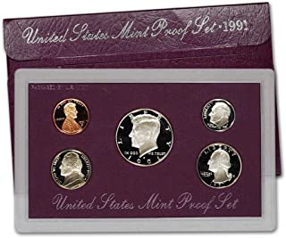 1991 S US Mint 5-Piece Proof Set Orig Box/COA DCAM
