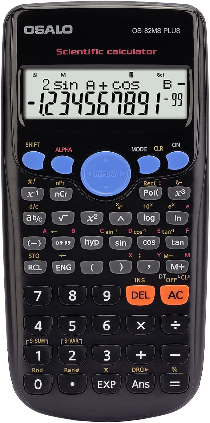 OSALO Scientific Calculator Max 78% OFF 240 Function for Display Large Basic Very popular!