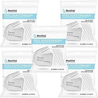 MeaVita FFP2 masker (50 stuks), EU CE-gecertificeerde mond- en neusbescherming conform EN149:2001+A1:2009, adembescherming...