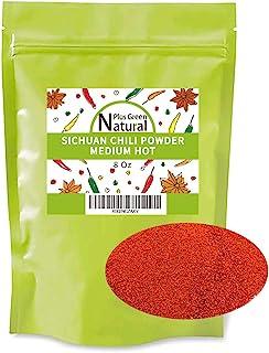 Ground Sichuan Red Hot Chili Pepper Powder 8 Ounce, Medium Hot, Szechuan Red Pepper Fine Powder Bulk, Essential Spice Seas...