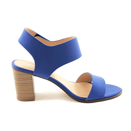64214935192 SODA Topshoeave Wait Womens Open Toe Chunky Heel Ankle Strap Shoes Block High  Heel Dress Sandals