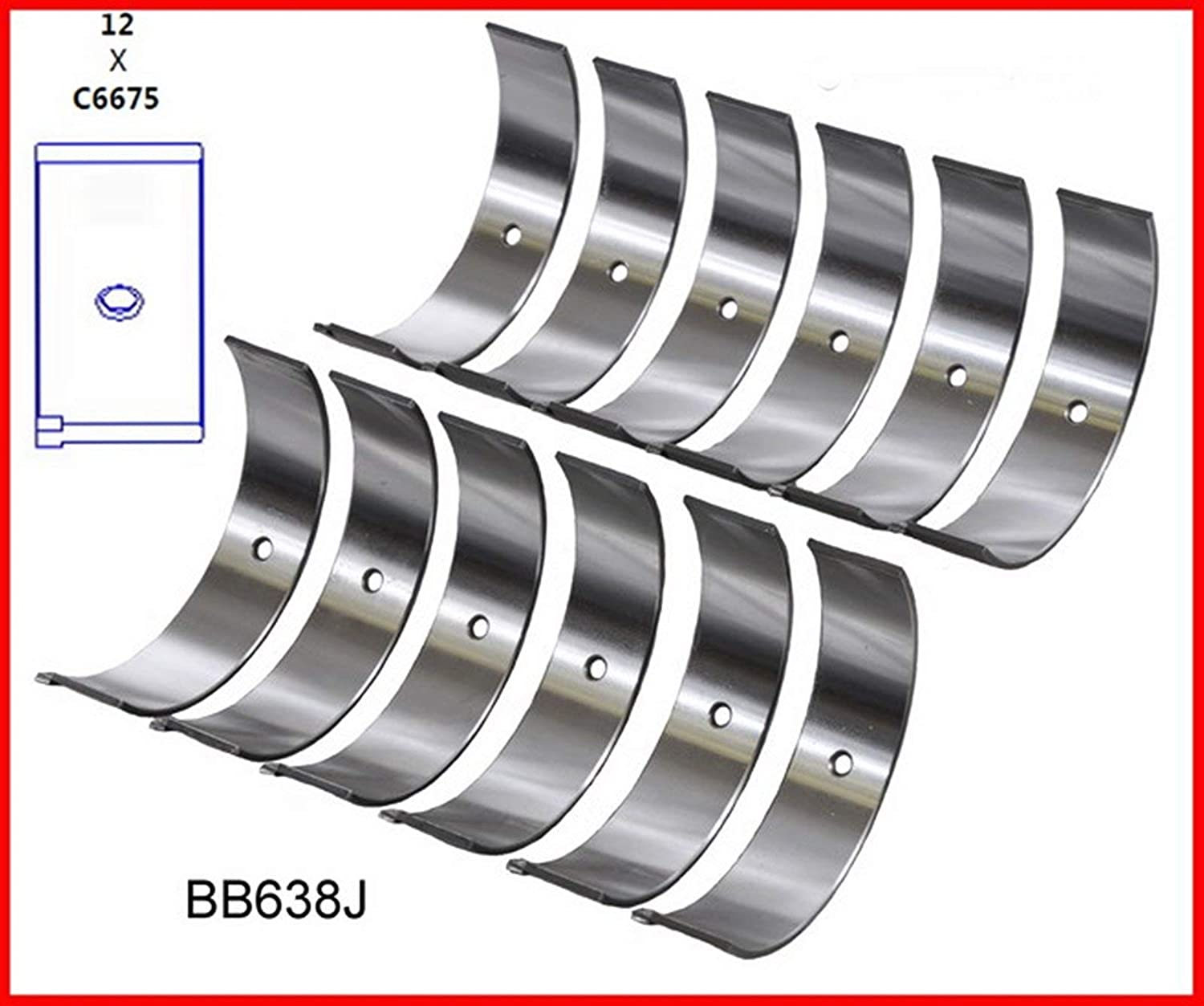 ENGINETECH BB638JSTD CONNECTING Our shop most popular ROD Washington Mall compatible 199 BEARINGS with