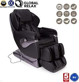 NAVIDAD -200€ l SAMSARA® Sillon de masaje 2D - Negro (modelo 2019) - Sofa masajeador electrico de relax con shiatsu - Silla butaca con presoterapia, gravedad cero, calor y USB - Garantía 5 Años