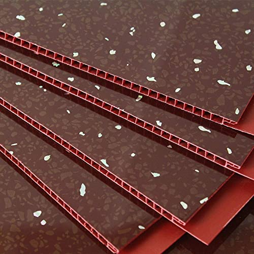 5mm Red Diamond Stone Wall Panels & Ceiling Panels AKA RED Sparkle. Tongue and Grooved . Ideal for your bath/shower walls going over tiles and on your ceiling 100% waterproof