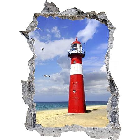 Leuchtturm Strand Meer Sand Wandtattoo Wandsticker Wandaufkleber E0468 Größe 67 Cm X 90 Cm Küche Haushalt