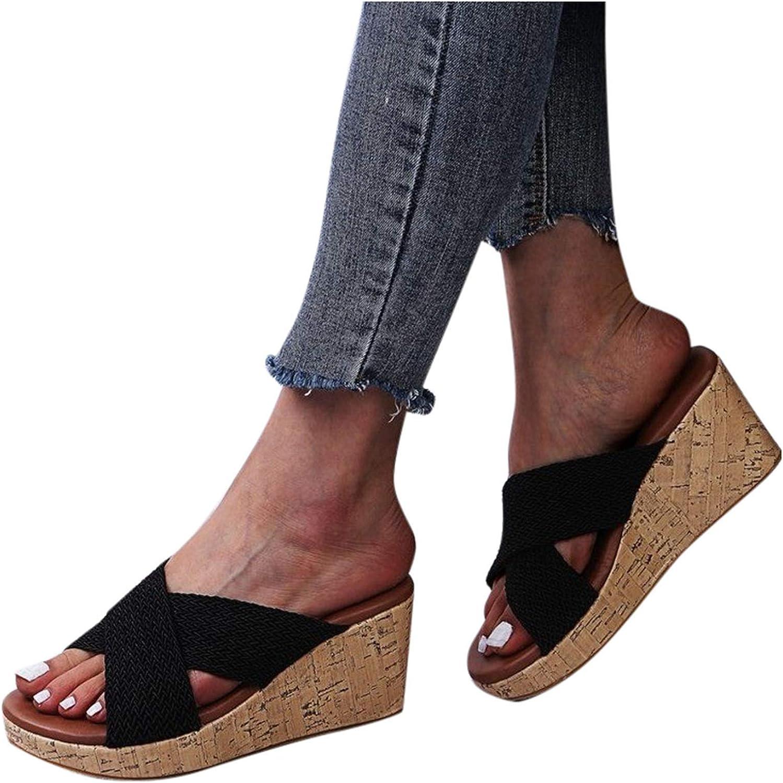 Padaleks Max 44% OFF Women's Strappy Platform Wedge Casual Sandal gift Comfort Sl