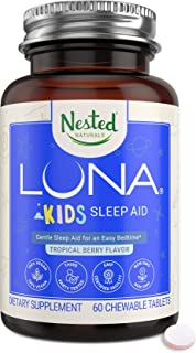 Luna Kids – Sleep Aid for Children & Melatonin Sensitive Adults, Naturally Sourced Ingredients for Longer Sleep & Wake Up ...