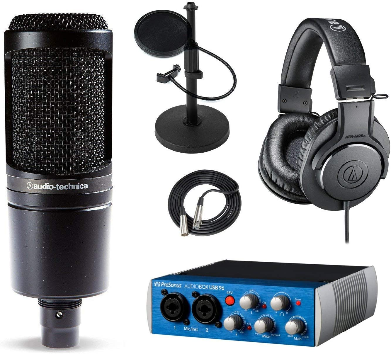 PreSonus AudioBox USB 96 and Bundle Recording 送料無料 激安 お買い得 セール価格 キ゛フト AT2020 Studio