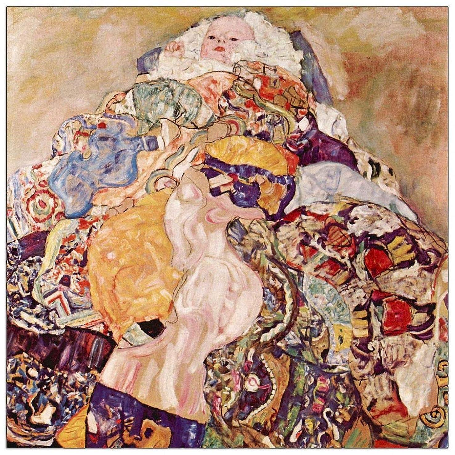 ArtPlaza TW90232 Klimt Gustav - Baby Decorative Panel 15.5x15.5 Inch Multicolored