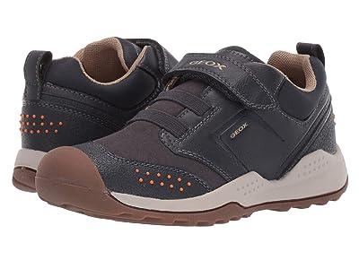 Geox Kids Jr Teram 1 (Little Kid/Big Kid) (Navy/Orange) Boys Shoes