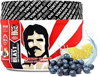 Vintage Blast Pre Workout - First Two-Stage Pre-Workout Supplement - Lasting Energy & Endurance Nitric Oxide Booster & Vit...