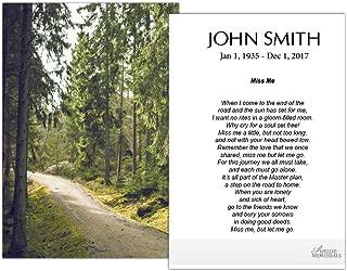 laminated funeral memorial cards