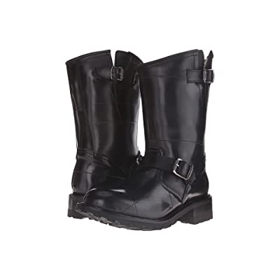Frye Arkansas Rubber Engineer (Black Recycled Rubber/Shearling Lined) Men