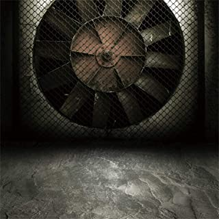 AOFOTO 10x10ft Abandoned Dark Dungeon Backdrop Aged Industrial Factory Underground Wind Fan Grunge Room Gothic Style Destroyed Cement Building Background for Photography Photo Studio Props Vinyl