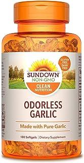 Sundown Naturals Odorless Pure Garlic, 100 Softgels (Pack of 3)