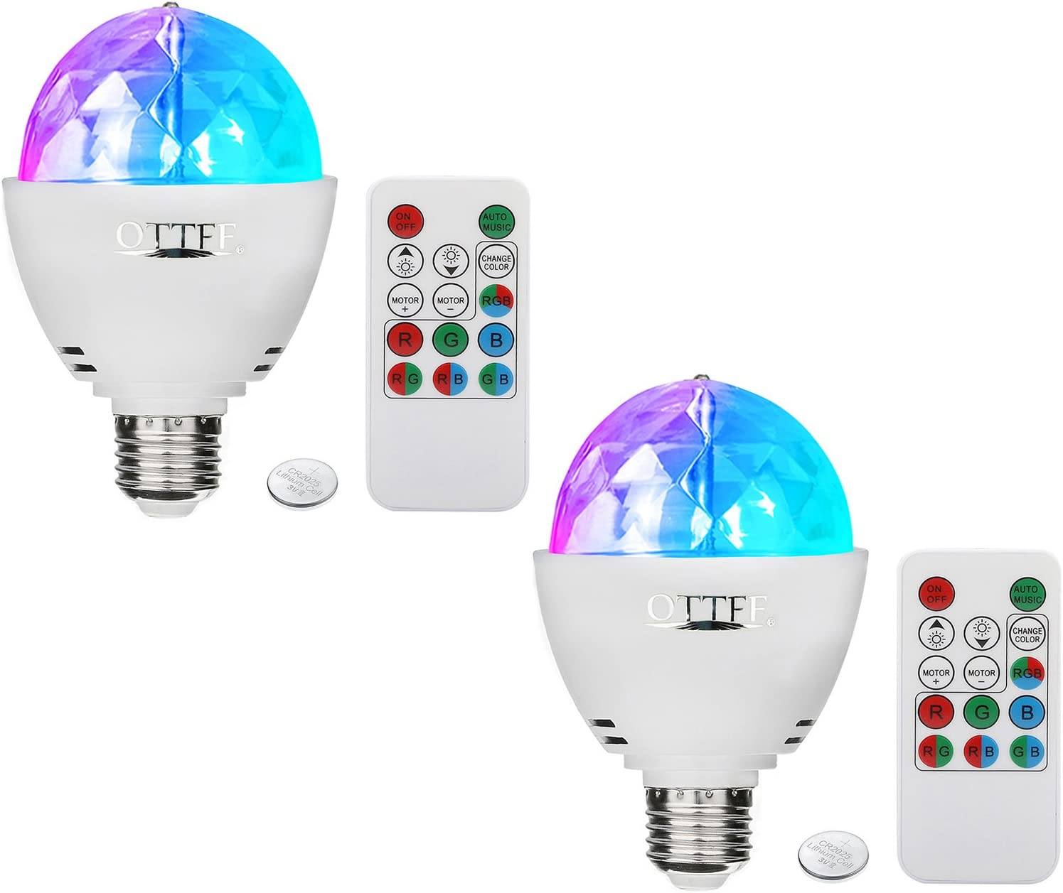 Fees free OTTFF Dimmable E27 RGB LED Party Cheap mail order specialty store Lighting DJ Stage Ba Disco Bulb