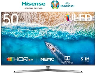 Hisense H50U7BE - Smart TV ULED 50' 4K Ultra HD con Alexa Integrada, Bluetooth, Dolby Vision HDR, HDR 10+, Audio Dolby Atmos, Ultra Dimming, Smart TV VIDAA U 3.0 IA, mando con micrófono