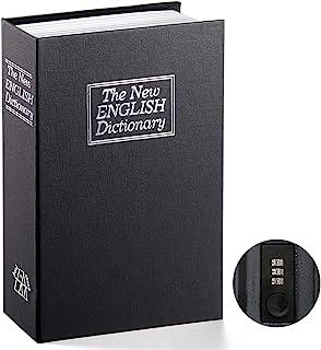Book Safe with Combination Lock – Jssmst Home Dictionary Diversion Metal Safe Lock Box 2018, Black Large