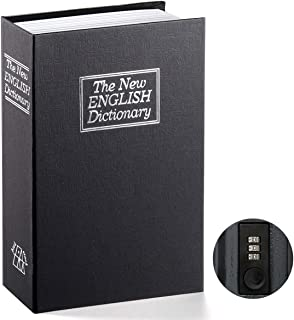 Book Safe with Combination Lock – Jssmst Home Dictionary Diversion Metal Safe Lock..