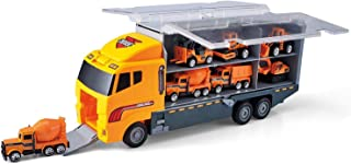 Toy 11 in 1 Die-cast Construction Truck Vehicle Car Toy Set Play Vehicles in Carrier Truck