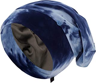Satin Silky Lined Sleep Bonnet For Curly Frizz Hair Extra Large Adjustable Night Cap Women Stay On Hair Cover Dry Night Ha...