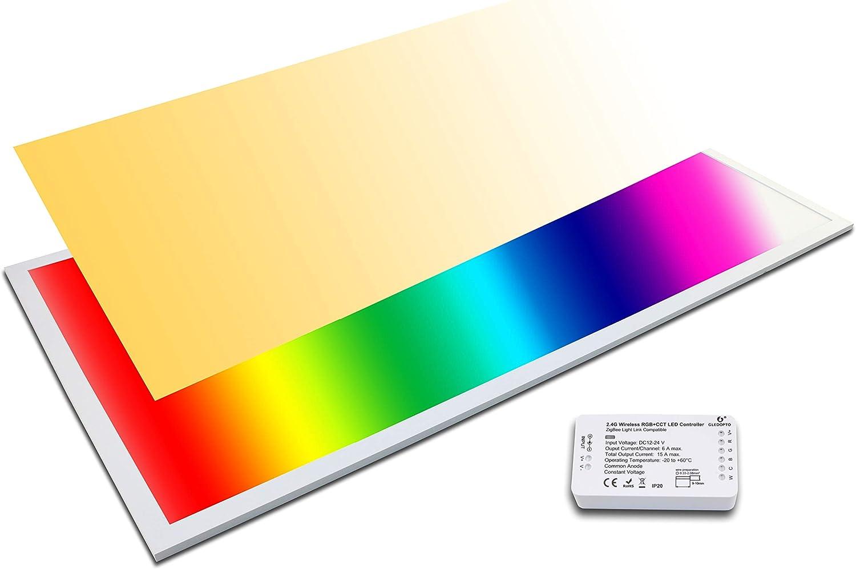 LED Panel RGB+CCT 120x60 plus WW+CW 60 Watt warmwei bis kaltwei dimmbar und alle RGB Farben (Mit Zigbee Controller)