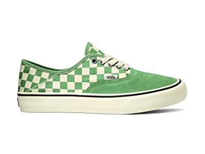 Vans Authentic SF ((Checkerboard) Hedge Green/Antique White) Lace up casual Shoes