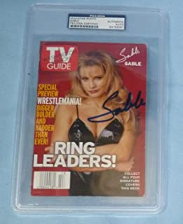 Sable Rena Mero Lesnar Signed TV Guide COA Autograph Magazine Cover WWE - PSA/DNA Certified - Autographed Wrestling Photos