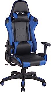 Silla Racing Miracle V2 en Cuero PU I Silla Gaming Regulable en Altura I Silla Gamer con 2 Cojínes Removibles I Silla Ordenador I Color:, Color:Negro/Azul