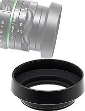 Fotasy 37mm Metal Curved Lens Hood, 37mm Lens Hood fits Olympus M.Zuiko Digital 17mm f2.8 Lens, 37mm Hood for Fuji Leica Leitz Panasonic Sony Lens, 37mm Screw-in Lens Hood
