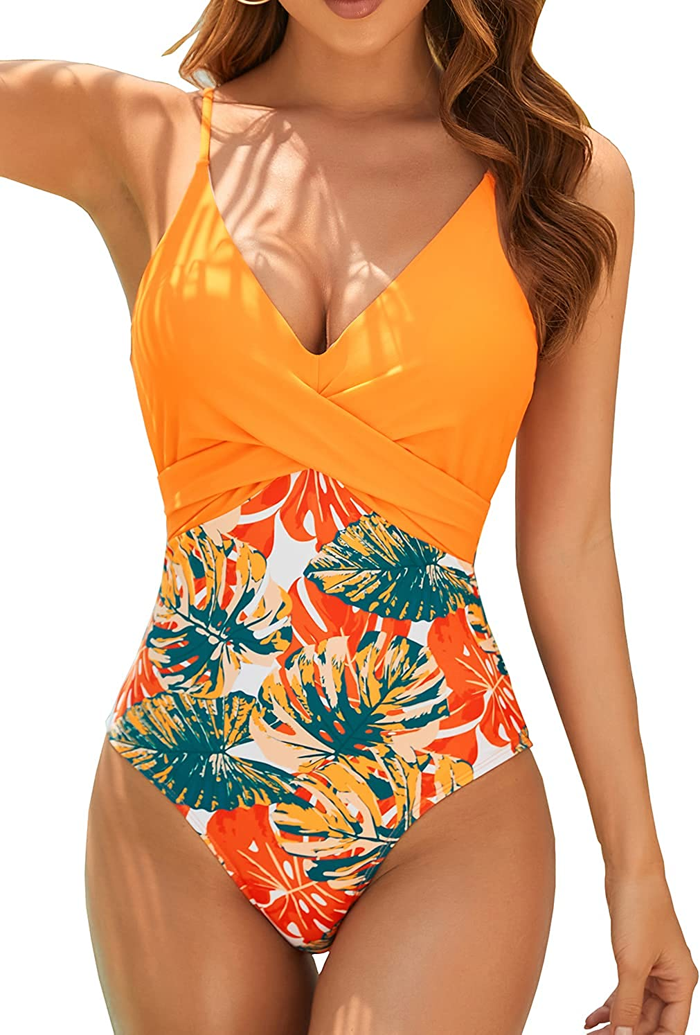 Binlowis One Piece Swimsuit 1 year warranty Front Swi excellence Cross Strappy Women's