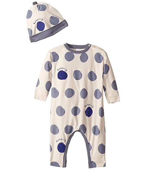 f1368494f92 Burberry Kids Dots One-Piece with Separate Hat (Infant) at Luxury ...