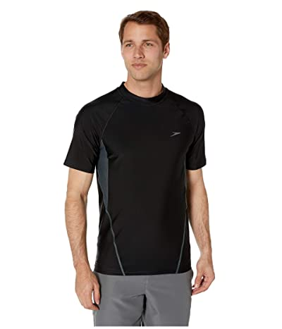 Speedo Fitness Rashguard (Speedo Black) Men