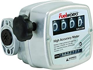 FUELWORKS Oval Gear Inline Meter for Diesel Fuel with 3-26 GPM, 1