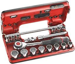 Facom J.360DBOX112 Dopsleutelset, 12-kant, metrisch, meerkleurig, 3/8 inch, 18-delige set