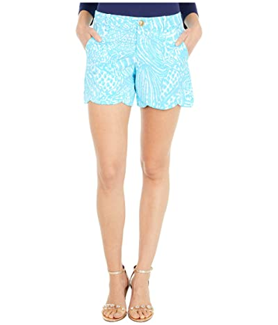 Lilly Pulitzer Palmita Stretch Shorts (Succulent Blue Sea Cups) Women
